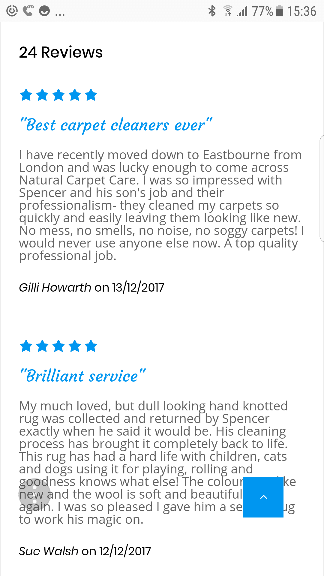 Reviews for Lewes Carpet Care