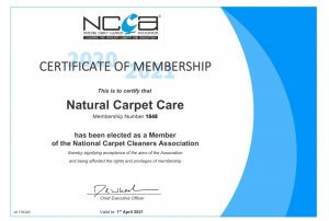 carpet cleaning certificate